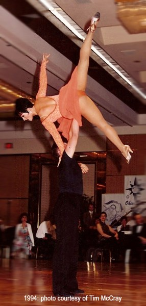Teresa Sigmon Jeff Robinson 1994 theater arts ballroom dancing photo by Tim McCray