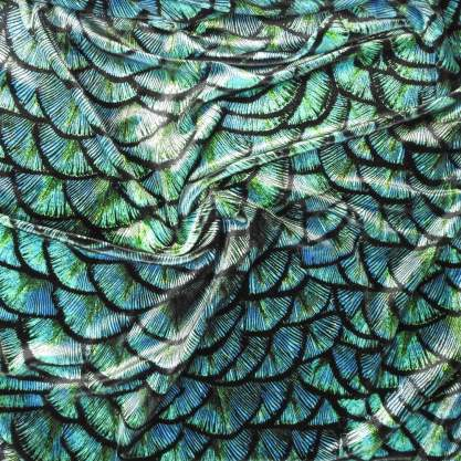 velvet from Funki Fabrics with dragon scale pattern