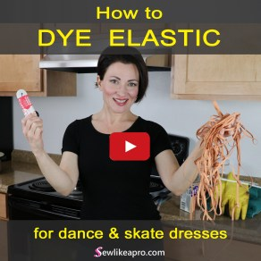 how to dye flesh color elastic for dance and skate costumes