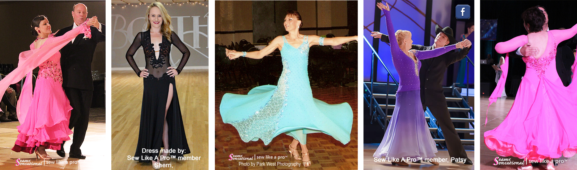 Country and ballroom dancing ballgowns, all SLP or Seams, smooth dancing, Standard dance dress
