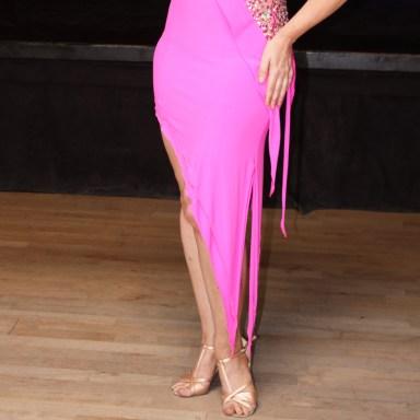 many points create consistent design, Dancesport costume worn by Christina Musser, Spotlight Ballroom