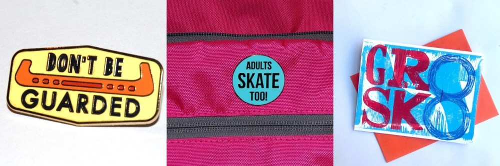 schmoll thoughts lapel pins, greeting cards, skate products