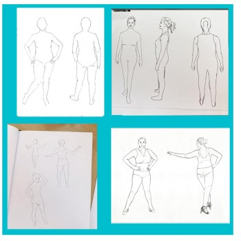 Custom sketch templates created in multiple design challenges hosted by Sew Like A Pro™