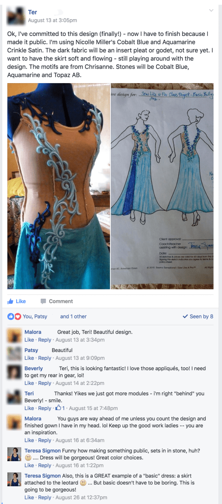 Sew Like A Pro™ Student Work, releasing her design