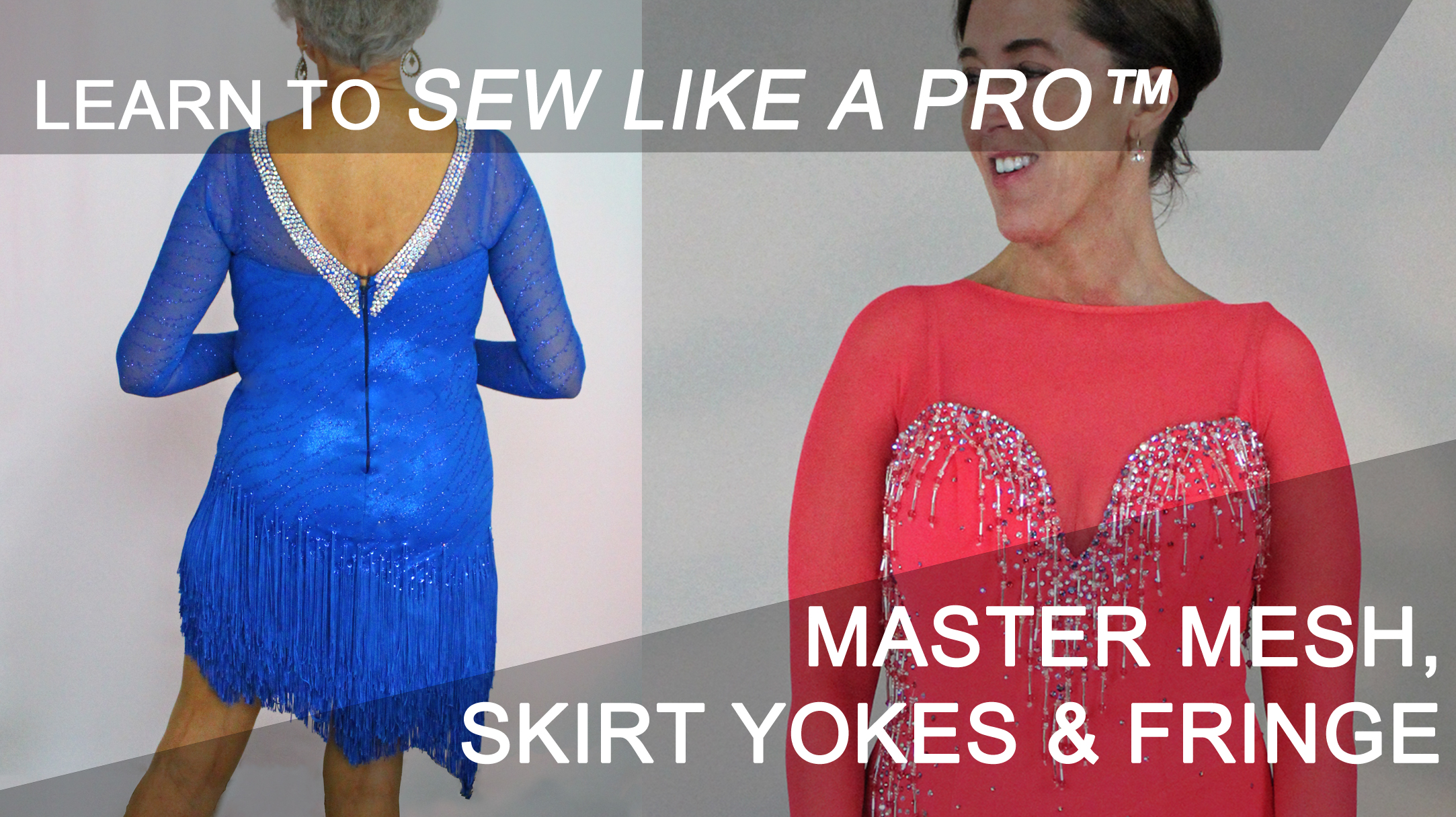 Learn to sew mesh, skirt yokes, fringe