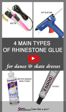 Take your pick of the 4 main types of rhinestone glues. There are several brands of non-toxic and epoxy glues. Take you pick... and happy rhinestoning!