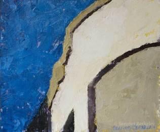 """Curves, 10"""" x 12"""", oil on canvas"""