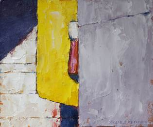 """Yellow, 10"""" x 12"""", oil on canvas"""