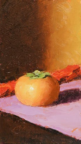 Persimmon, oil on canvas
