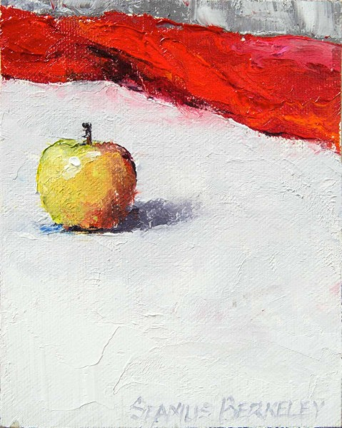 Apple-on-White-Painting-Seamus-Berkeley