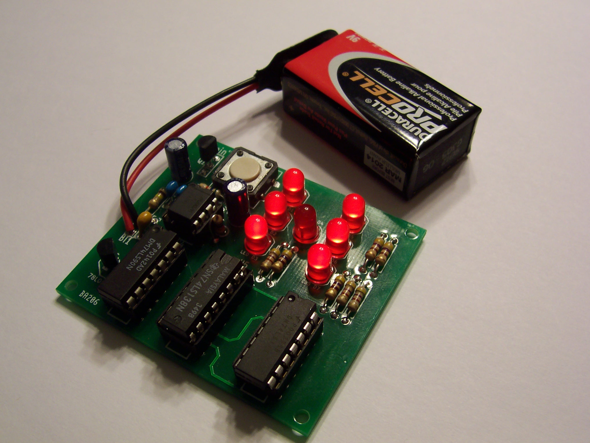 Bcd Counter Circuit Using The 74ls90 Decade Counter