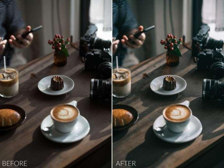 Cafe & Food Film Style Lightroom Preset Pack
