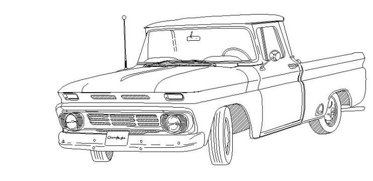Chevy S10 Paint Code Location Sketch Coloring Page