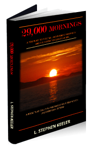 """Cover of """"29,000 Mornings"""", a book by Stephen Keeler"""