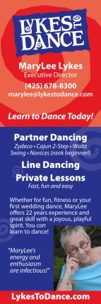 Lykes to Dance bookmark (front)