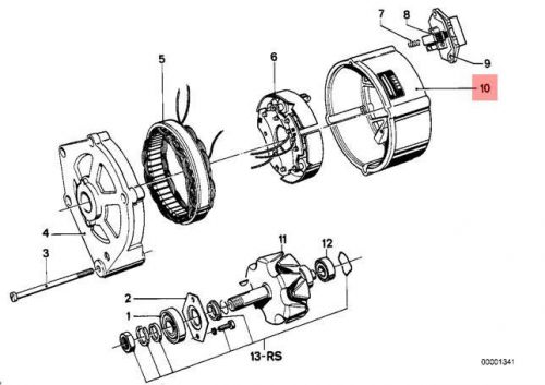 Genuine OE BMW 02 E12 E21 E23 E24 E28 Alternator Rotor
