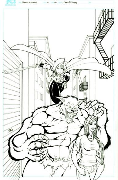 Cover image Scarlet Huntress