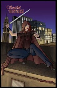 Scarlet Huntress #1 back cover art, All Art by Sean Forney