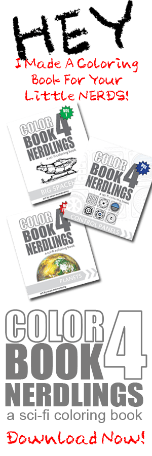 Download a coloring book for your little nerd!