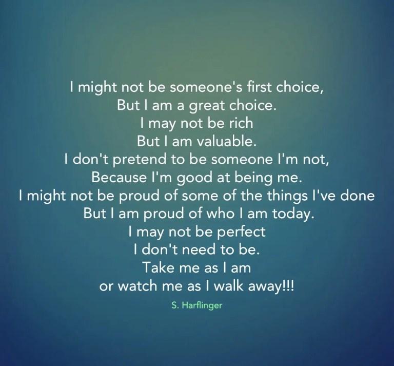 Always stepping towards myself.