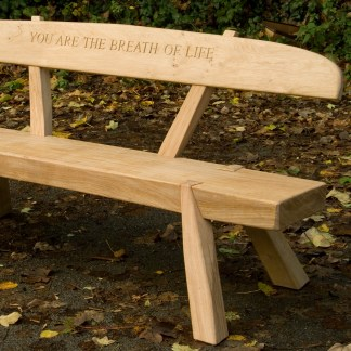 dovetail garden bench