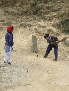 Kids playing cricket at the school I taught in Himachal Pradesh, India