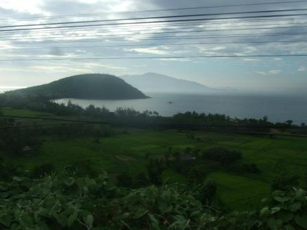 Along the coast of Vietnam. I took this while on a train from Hanoi to Danang
