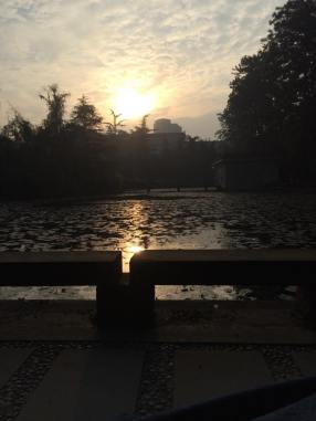 Watching the sunrise at Sichuan University