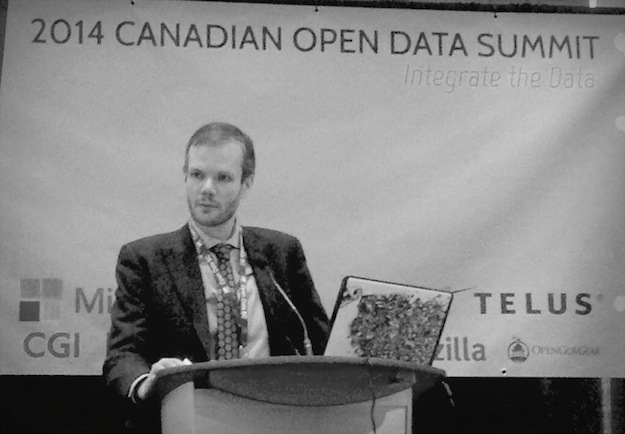 Mapping the borders of the unknowable country at the Open Data Summit in Vancouver. (Photography by OpenDataBC)