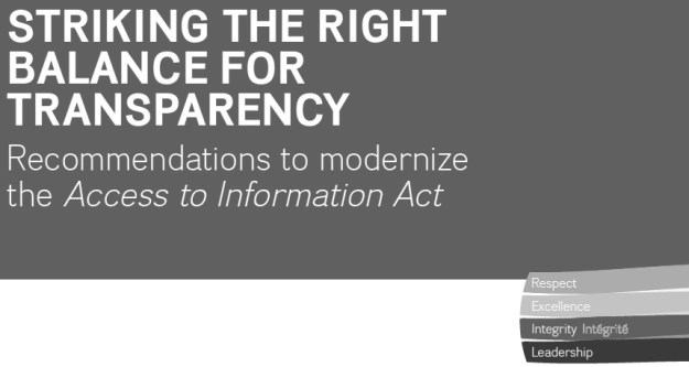 Should this report's title have a question mark after it? (Graphic by Office of the Information Commissioner of Canada)