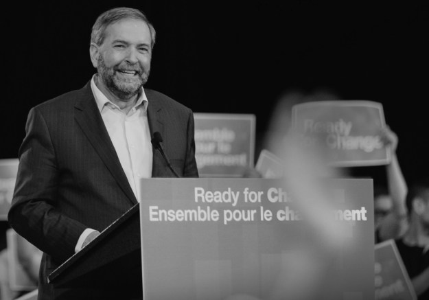 "The cover of the NDP's campaign platform promises that party leader Tom Mulcair is ""Ready for Ch"" But what kind of ""Ch"" will the Mulcair make to the country's records access law? (Photograph by NDP)"