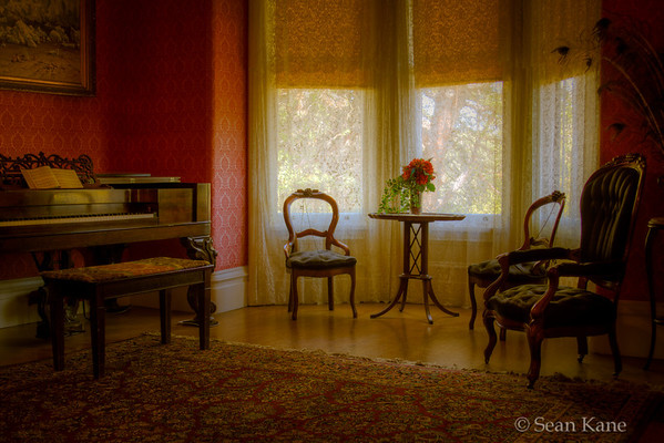 Inside the John Muir House - Piano and Window