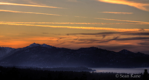 Sunset at Big Bear Lake
