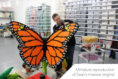 lego butterfly sculpture sean kenney art with lego bricks