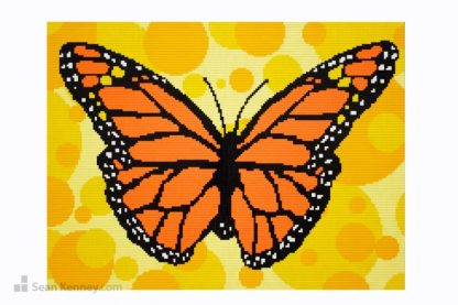 lego monarch butterfly mural mosaic artwork