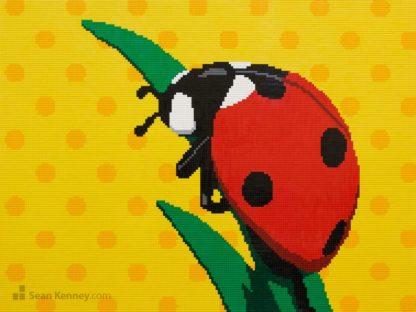 lego ladybug ladybird mural mosaic artwork