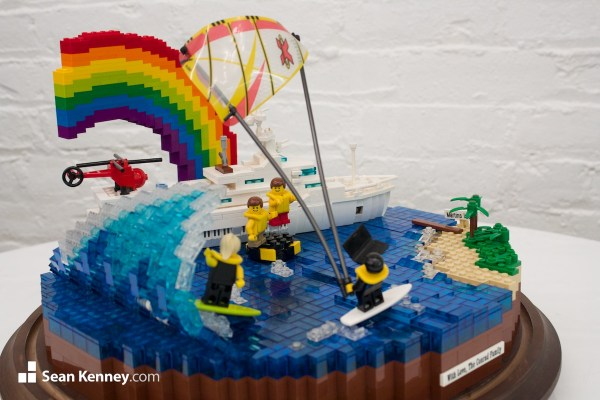 Sean Kenney - Art With Lego Bricks -grand-day-in-yacht