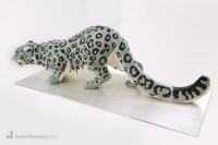 Sean Kenney - Art with LEGO bricks : Snow-leopard