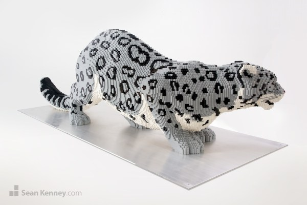 Sean Kenney' Art With Lego Bricks Snow Leopard