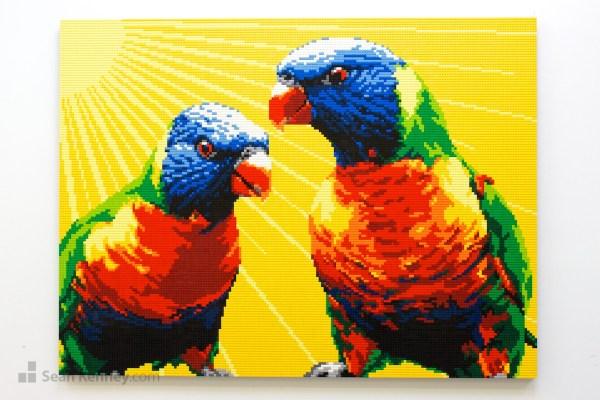 Sean Kenney - Art With Lego Bricks Yellow-parrots