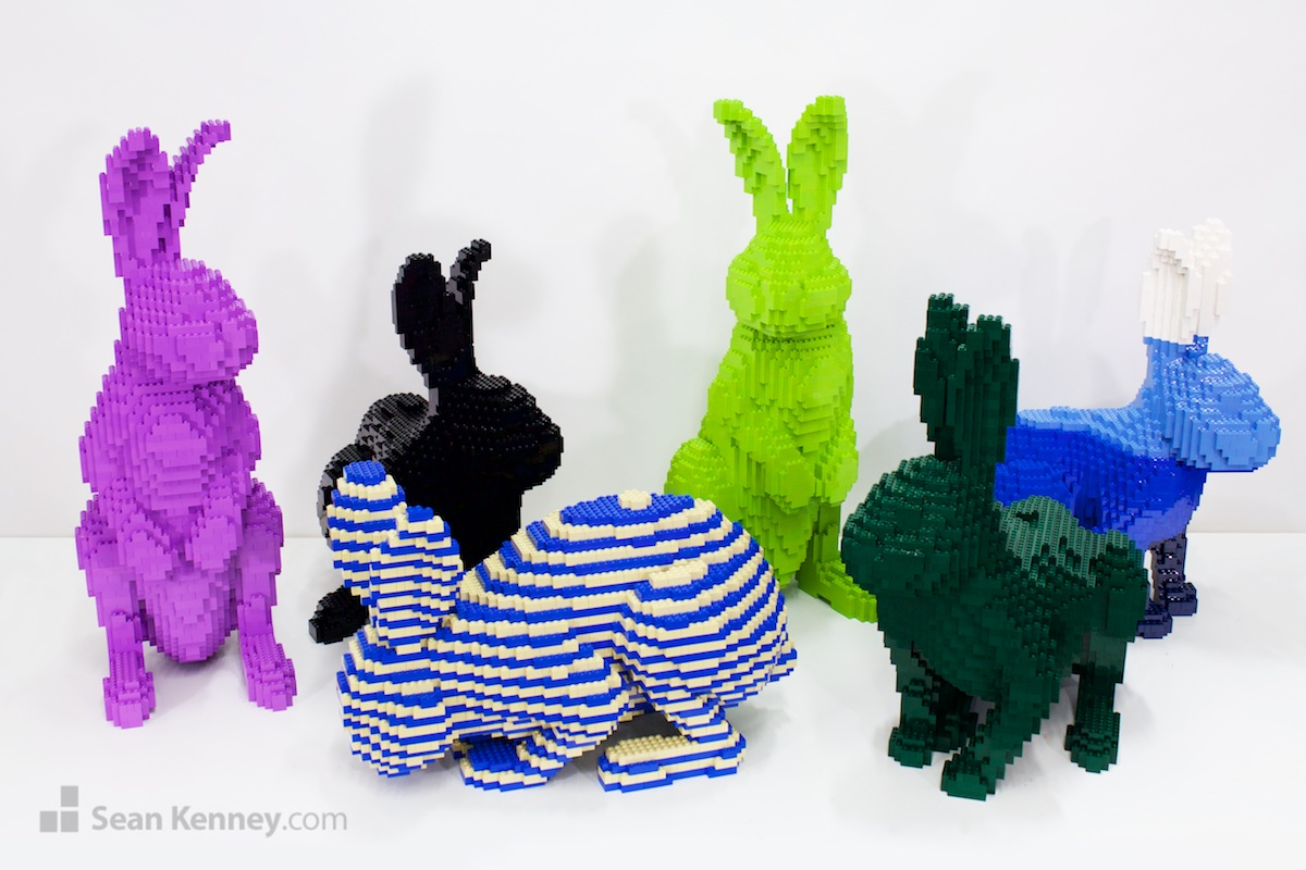 Sean Kenney S Art With Lego Bricks Pop Art Bunnies