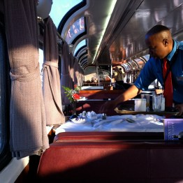 Dining car on the Coast Starlight