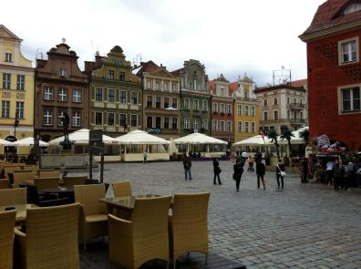The town square in Poznan