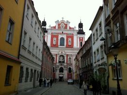 Catholic church and school in Poznan