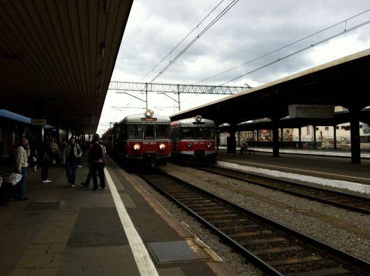 Commuter trains at Poznan Main Station