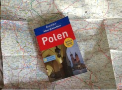 What else? The Baedeker guide to Poland, plus map.