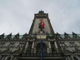 Looking up at the Hamburg town hall
