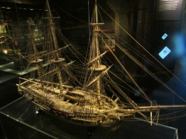 The world's largest 'bone ship': ship models made in the early 1800s by prisoners in naval hulks who used leftover bones and wire.
