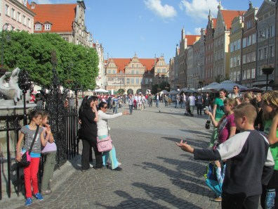 In the market square of Danzig, Poland.