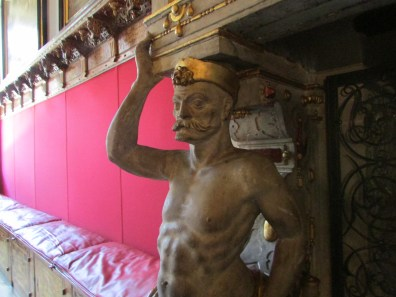 Fireplace in the town hall of Danzig